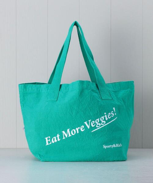 <Sporty&Rich>EAT MORE VEGGIES TOTE BAG/バッグ.