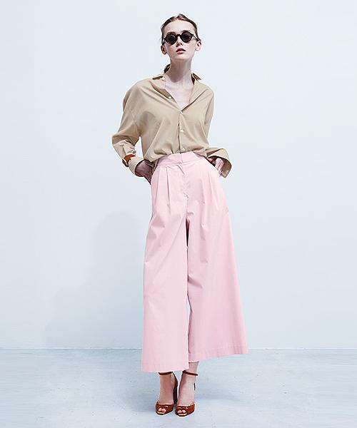HELIOPOLE(エリオポール)の「2タックワイドパンツ(その他パンツ)」|ピンク