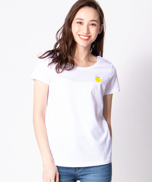 【ULTRA TEE】アップルホワイトTシャツ