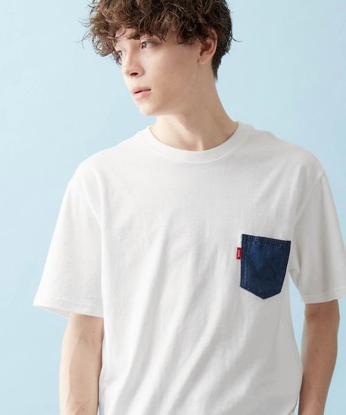 EDWIN/エドウィン DENIM POCKET H/S TEE デニムポケットTシャツ