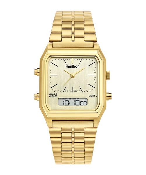 ARMITRON NEWYORK(アーミトロンニューヨーク)の「ARMITRON 腕時計 アナログ デジタル スポーツウォッチ 80's レトロシリーズ(アナログ腕時計)」|ゴールド