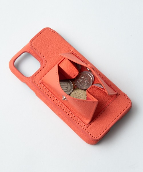 【DEMIURVO】デミウルーボ BIRTH POCHE 背面手帳型スマホケース iPhone11 Proストラップ付
