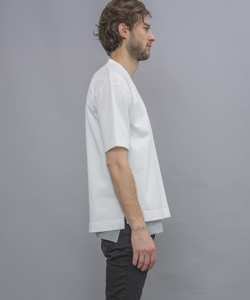 【NUMBER (N)INE】WEB限定 BULKY COTTON OVERSIZE V-NECK TEE