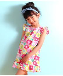 bc2b67bbb267f ANAP kids(アナップキッズ)の「リネン混フラワーワンピース(Tシャツ