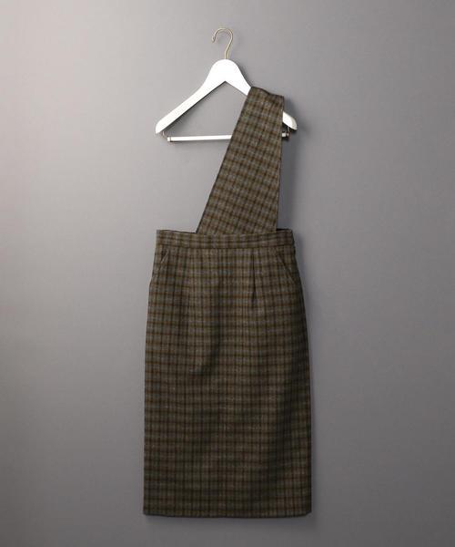 <6(ROKU)>SUSPENDERS SKIRT/スカート