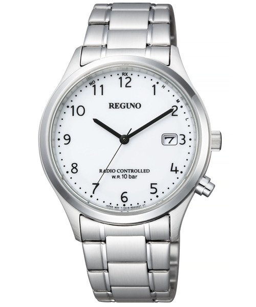 REGUNO レグノ ソーラーテック電波時計 シンプルシリーズ