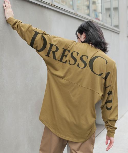 【BASQUE -enthusiastic design-】DRESSCAMP/ドレスキャンプ BASQUE magenta 別注 バックプリント ビッグシルエット ロングスリーブカットソー