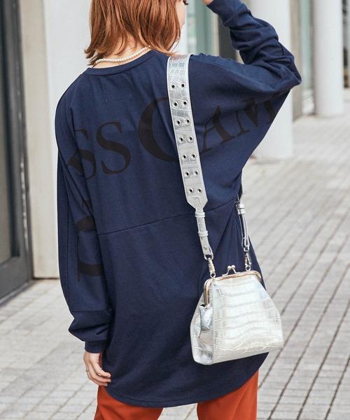 【BASQUE -enthusiastic design-】DRESSCAMP/ドレスキャンプ BASQUE magenta 別注 バックプリント ビッグシルエット ロングスリーブカットソ