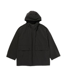 SPRING2020 HOODED HALF COATブラック