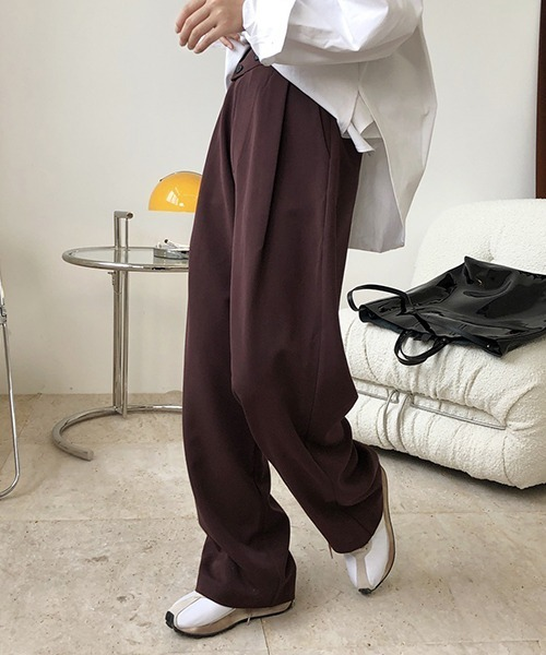 【chuclla】【2020/AW】Front cross wide pants chw1393
