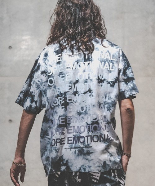 GLIMCLAP(グリムクラップ)の「mt6992-Tie dye dyeing and Printed short sleeves cutsew カットソー(Tシャツ/カットソー)」|チャコール