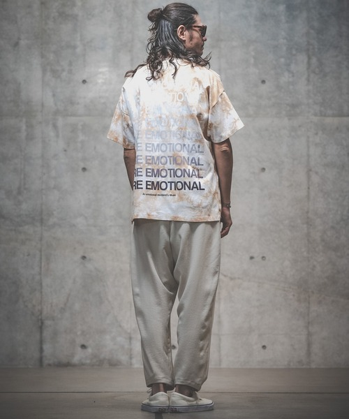 GLIMCLAP(グリムクラップ)の「mt6992-Tie dye dyeing and Printed short sleeves cutsew カットソー(Tシャツ/カットソー)」|詳細画像