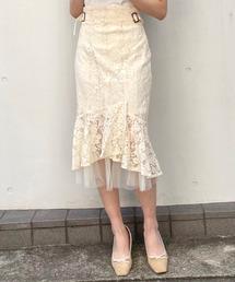 サイドバックルマーメイドスカートオフホワイト