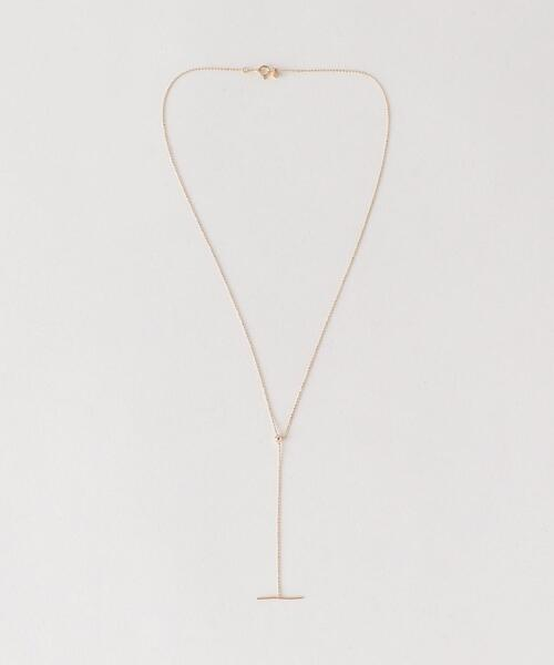 <PREEK>K10YG BALL CHAIN LARIAT NECKLACE/ネックレス
