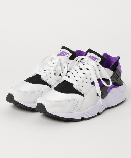 72e9b94660e46 NIKE AIR HUARACHE RUN  91 QS (BLACK PURPLE PUNCH-BLACK-WHITE) SP ...