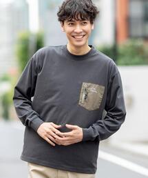 【吸水速乾】LOGOS(ロゴス)別注プレーティングクルーネックポケットTシャツ