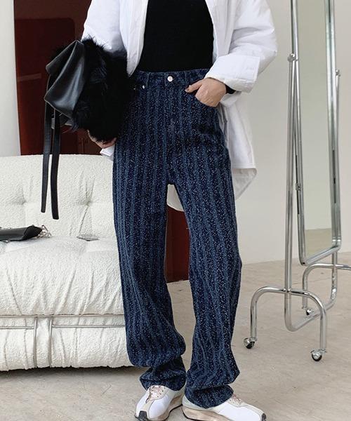 【chuclla】Texture striped pants chw1394