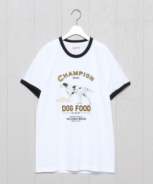 <Milltown>PRINT RINGER T-SHIRT/Tシャツ