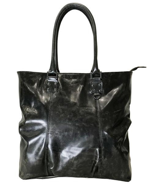 DECADE(ディケイド)の「アンティックホースレザー・トートバッグ DECADE(No-01072) ディケイド Antique Horse Leather Tote Bag(トートバッグ)」 ブラック