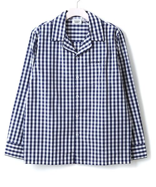 SLEEPY JONES(スリーピージョーンズ)の「SLEEPY JONES / スリーピージョーンズ:Henry Pajama Shirt:CORE-M003-F1026-410[DEA](ルームウェア/パジャマ)」|ネイビー