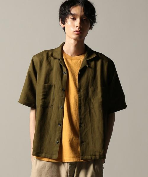 R/L OPEN COLLAR ショートスリーブシャツ#
