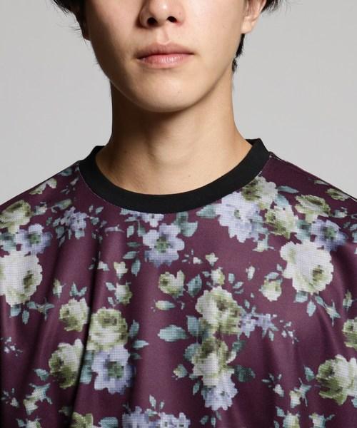 花柄ゴブラン織プリントロングスリーブTシャツ