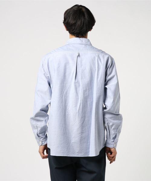 【DANTON】丸襟プルオーバーシャツ YOX MEN