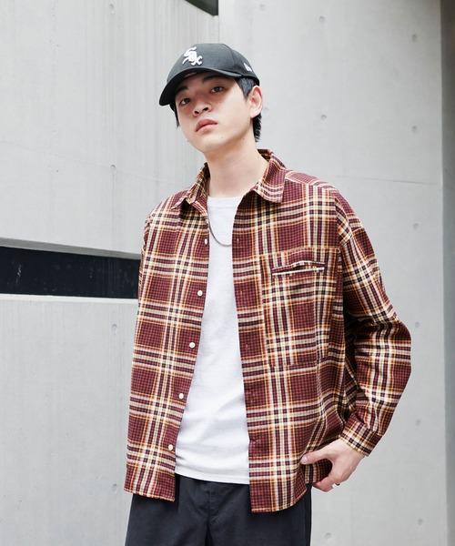 【BASQUE -enthusiastic design-】ビッグシルエットチェック柄ネルシャツ