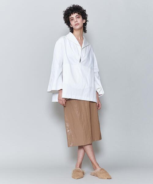 <6(ROKU)>COATING SKIRT/スカート