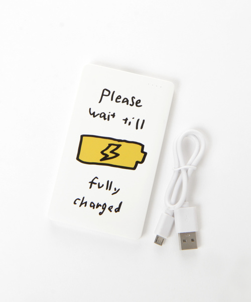 LAKOLE(ラコレ)の「【軽量】オリジナルプリント携帯充電器 / LAKOLE(モバイルアクセサリー)」|イエロー