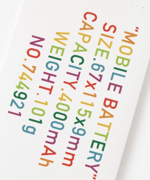 LAKOLE(ラコレ)の「【軽量】オリジナルプリント携帯充電器 / LAKOLE(モバイルアクセサリー)」|詳細画像