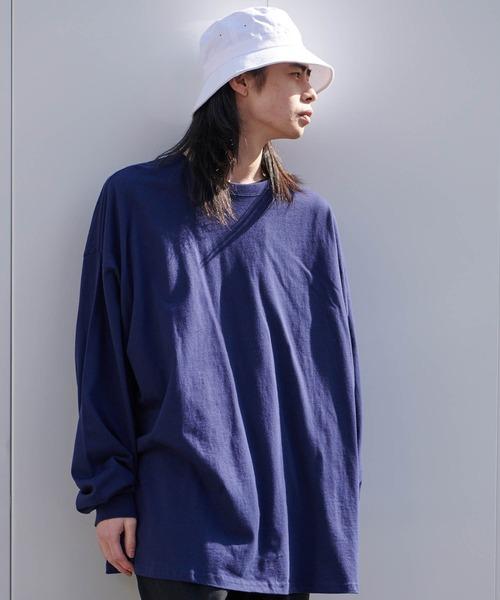 【BASQUE -enthusiastic design-】スーパーオーバーサイズ ビッグシルエット ドロップショルダーTシャツ 長袖