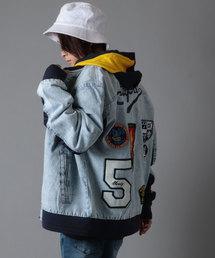 【STAPLE】オリジナルロゴ刺繍&ワッペン デニムジャケット(デニムジャケット)