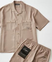 Kappa(カッパ)のKappa/カッパ 別注 リラックスオープンカラー半袖CPOシャツ/シェフパンツ セットアップ(シャツ/ブラウス)