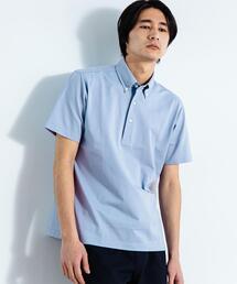 < 機能性 / 吸水速乾 ・ 抗菌 > CSD D/C バーズアイ ボタンダウン 半袖 ポロシャツ