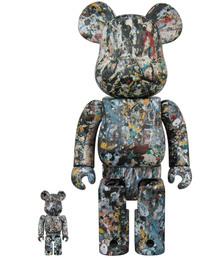 BE@RBRICK(ベアブリック)のBE@RBRICK Jackson Pollock Studio Ver.2.0 100% & 400%(フィギュア)