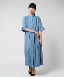 SOMETHING(サムシング)のSOMETHING STAND COLLAR ONE-PIECE(シャツワンピース)