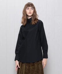 <H>BROAD HIGH NECK BLOUSE/ブラウス о