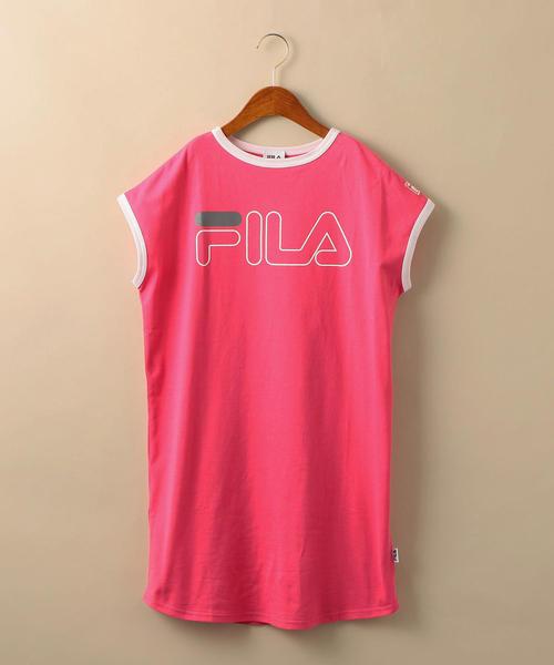 【ジュニア】〔WEB限定〕FILA(フィラ)ロゴワンピース