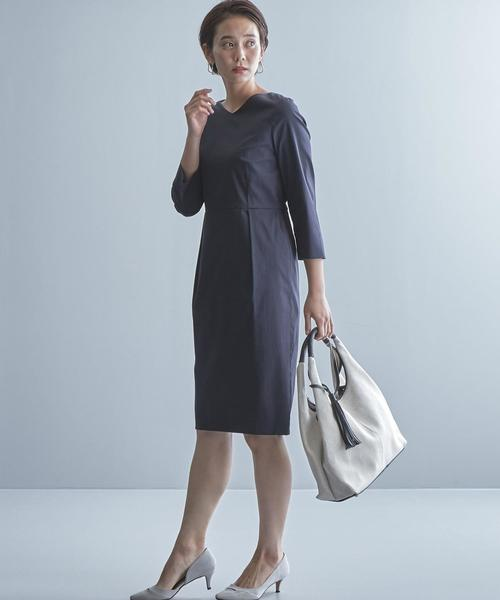 【WORK TRIP OUTFITS】BC シャンブレー ワンピース