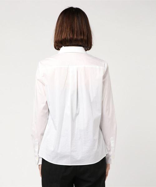【CECI OU CELA】コットンナイロンストレッチシャツ