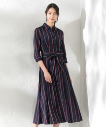 LOVELESS(ラブレス)の【LOVELESS×otona MUSE】WOMEN レジメンタルストライプシャツドレス(ワンピース)