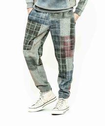ACANTHUS(アカンサス)のACANTHUS:patchwork mix print easy pants(パンツ)