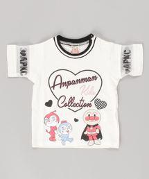 ANPANMAN KIDS COLLECTION(アンパンマンキッズコレクション)の【アンパンマン】袖シースルー ハートロゴTシャツ(Tシャツ/カットソー)