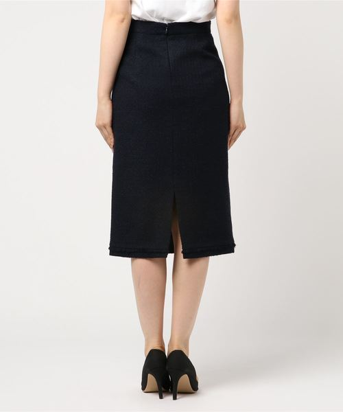 ESTNATION(エストネーション)の「ESTNATION / ツイードフリンジタイトスカート(スカート)」|詳細画像