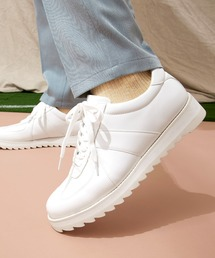 シャークソールジャーマントレーナーシューズ/シンセティックレザー EMMA CLOTHESホワイト×ホワイト