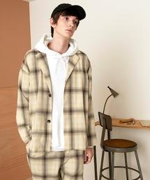 【セットアップ】オーバーサイズ ルーズ2Bテーラードジャケット&タックテーパードイージーパンツ EMMA CLOTHES 2021S/Sブラウン系その他