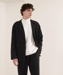 【セットアップ】オーバーサイズ ルーズ2Bテーラードジャケット&タックテーパードイージーパンツ EMMA CLOTHES 2021S/Sブラック