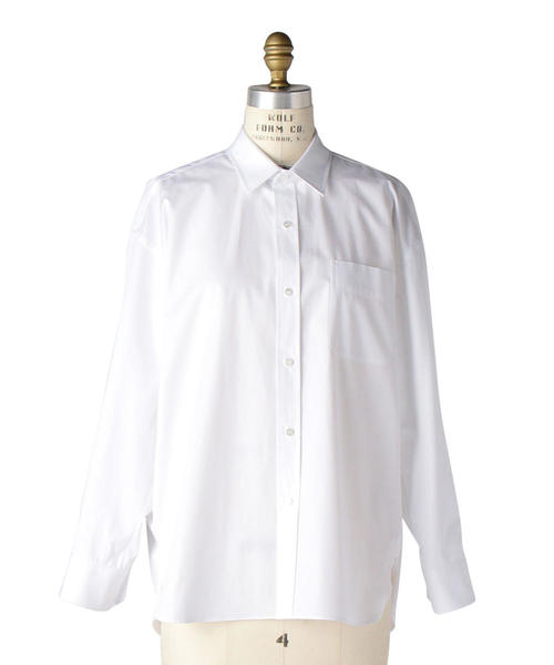 Drawer ホワイトレギュラーシャツ