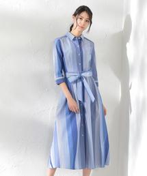 LOVELESS(ラブレス)の【LOVELESS×otona MUSE】WOMEN マルチストライプシャツドレス(ワンピース)